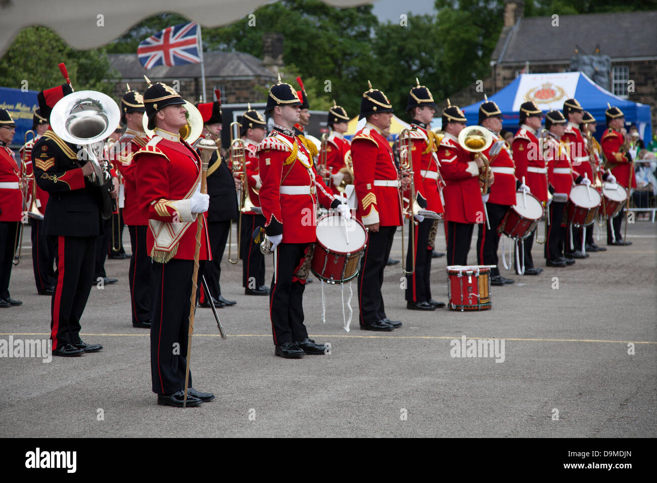 Preston UK, 22. Juni 2013. Die Band The King Division mit Sitz in Weeton Kaserne auf der Preston militärischen Show Stockfoto