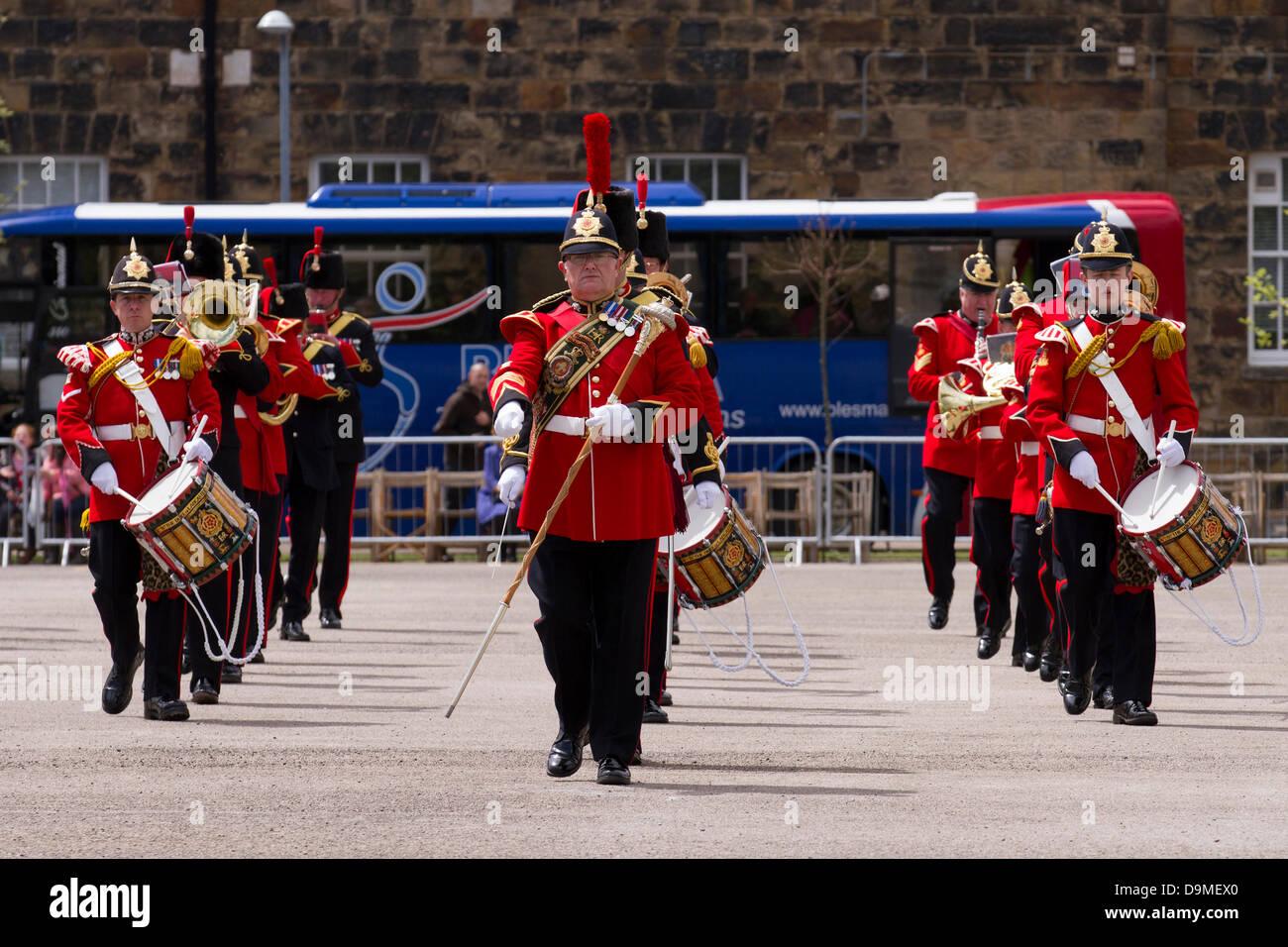 Parade der uniformierten Kapellenmitglieder der Britischen Armee in Preston Großbritannien, 22. Juni 2013. Die Band Stockfoto