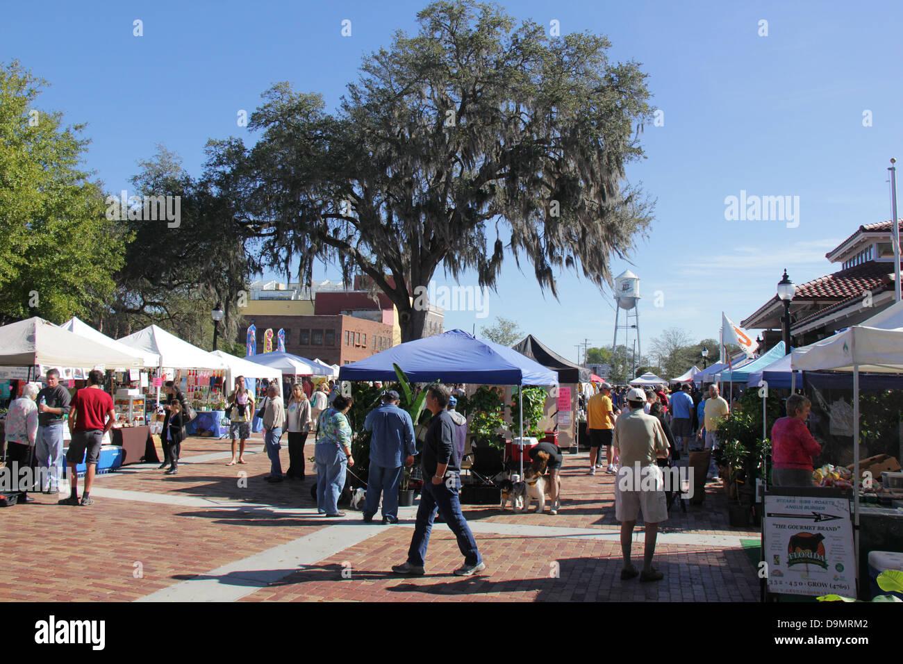 Bauernmarkt am Wintergarten, Orange County, Florida. Stockfoto