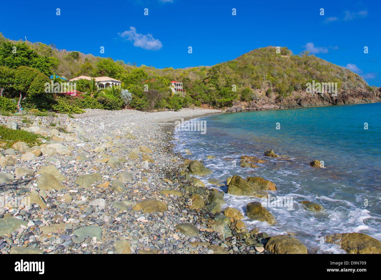Klein-Bay Teil des Rendezvous Bay auf der Karibik Insel St. John in den US Virgin Islands Stockbild
