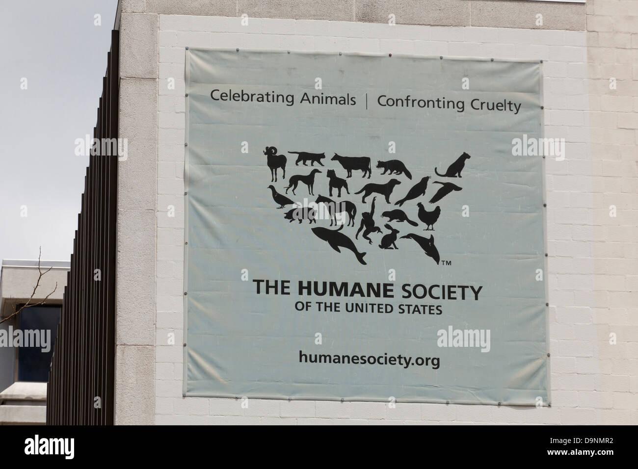Die Humane Society-Hauptquartier, Washington DC Stockbild