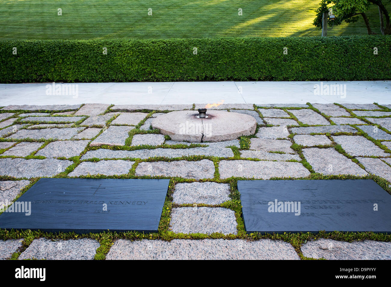John F Kennedy Grab Friedhof Von Arlington Virginia Usa Stockfoto