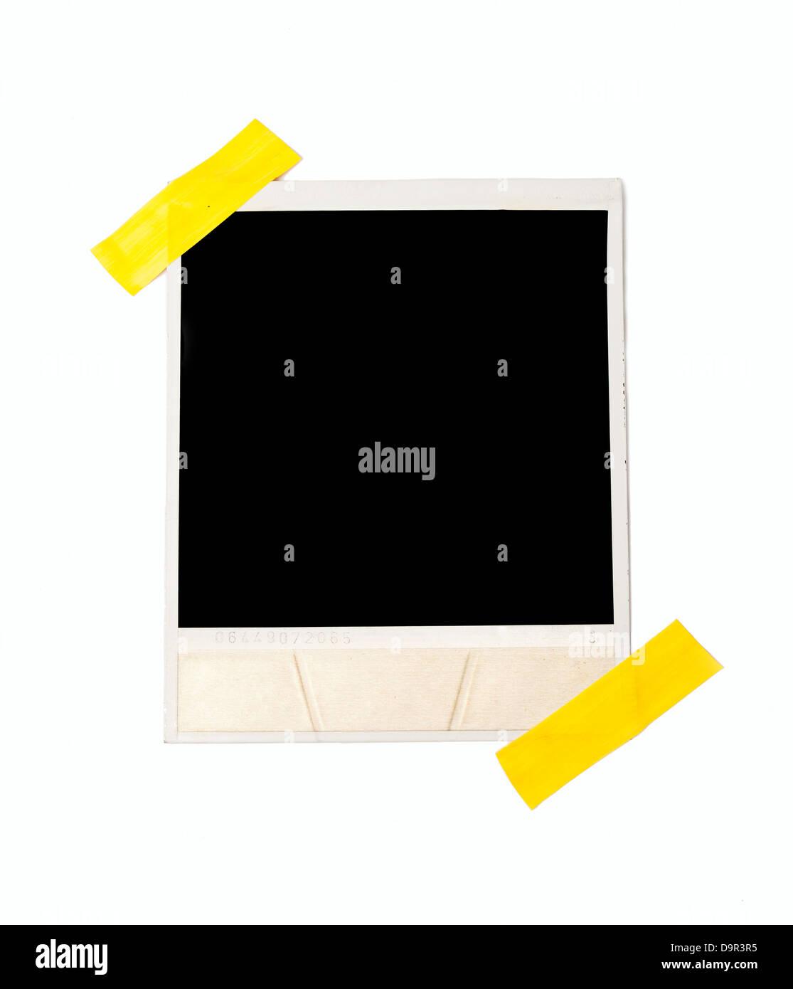 Verschweißte Polaroid-Stil Fotorahmen, isoliert auf weiss Stockfoto ...