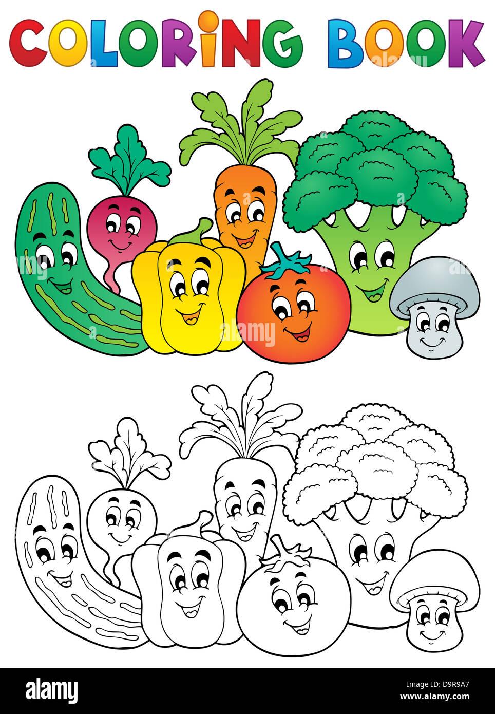 Malvorlagen Gemüse Buchthema 2 - Bild-Darstellung Stockfoto, Bild ...