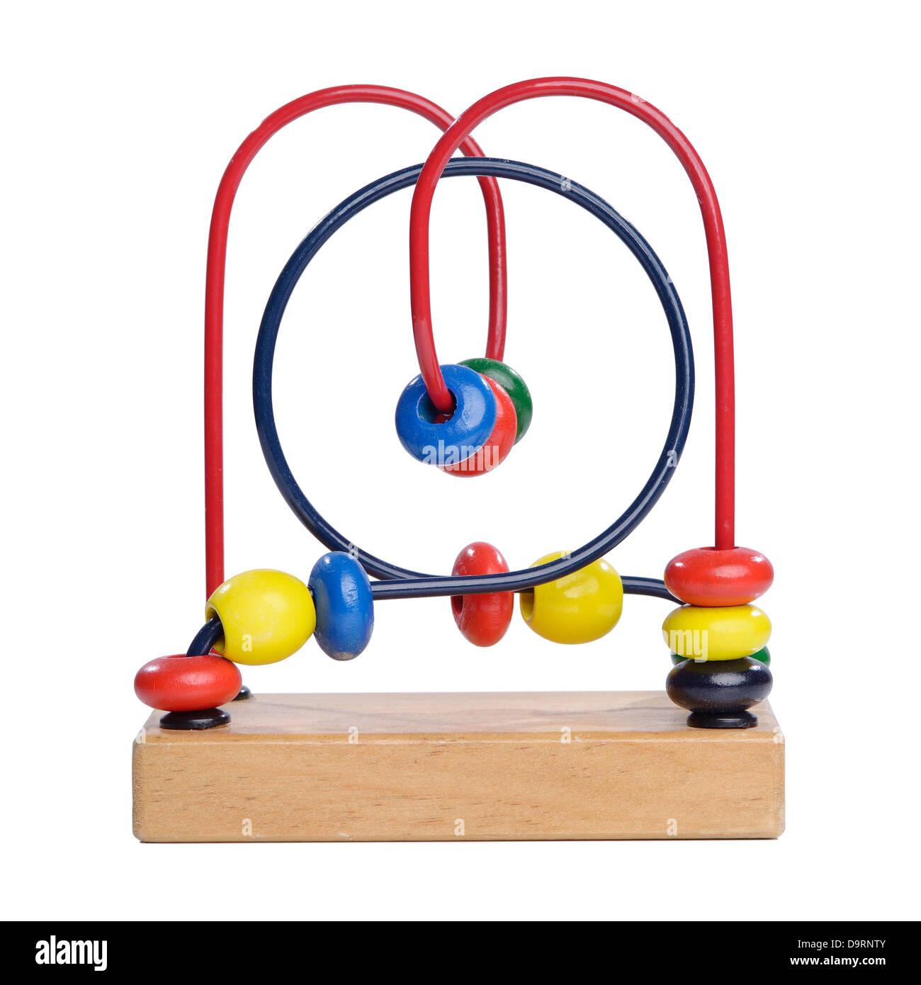 Holzperle Labyrinth Spielzeug Stockbild