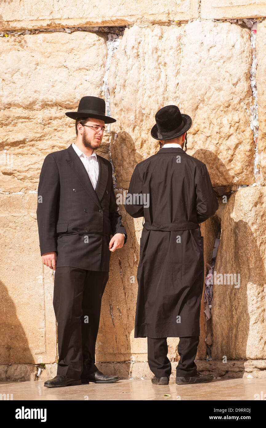 Israel Jerusalem Altstadt orthodoxe Juden steht die