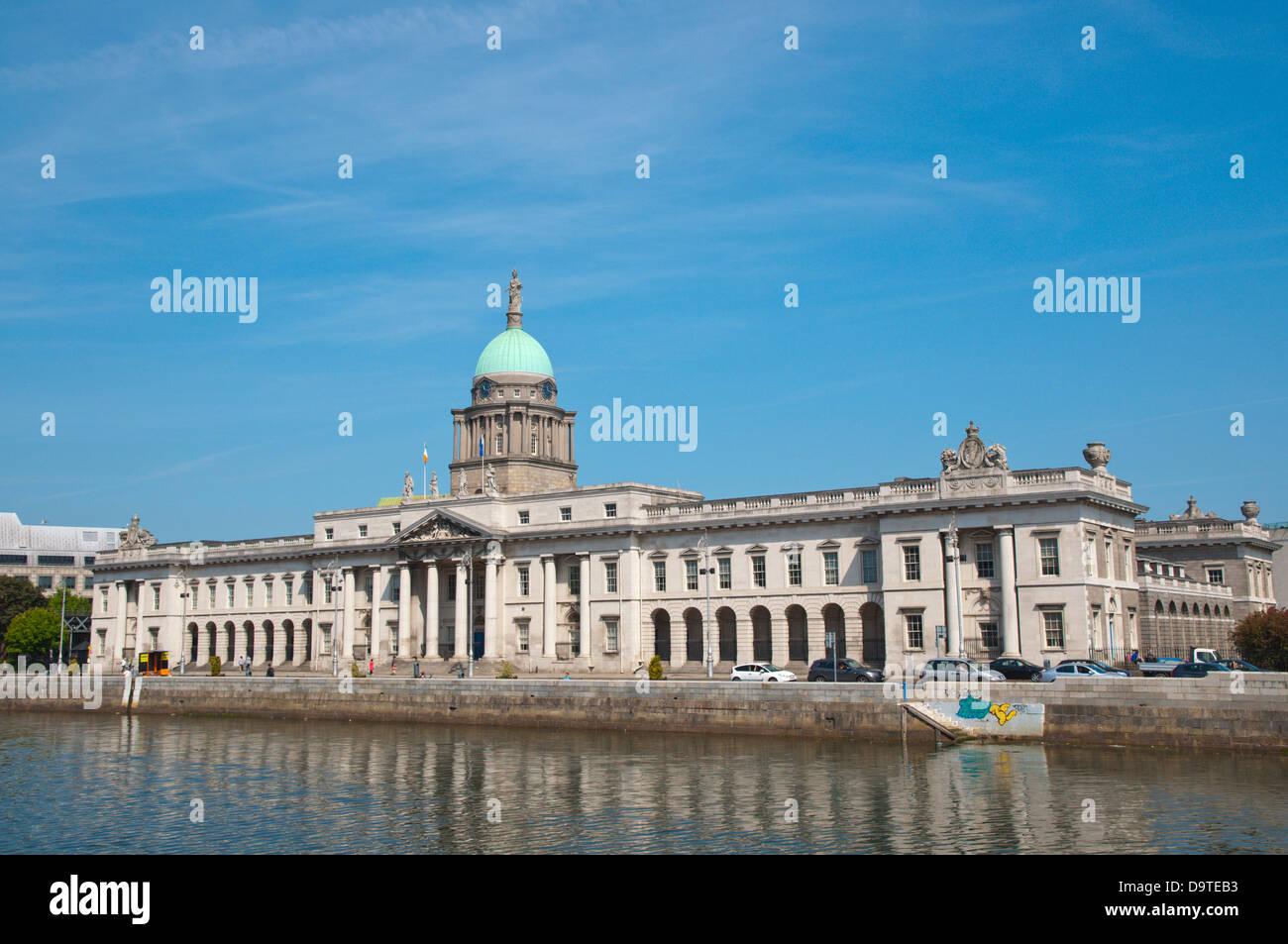 Georgianische Dublin Irland Europa Custom House (1791) Stockbild