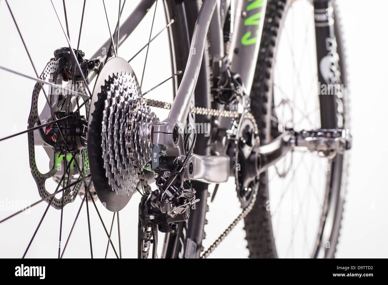 Detail eines Mountainbikes Stockbild