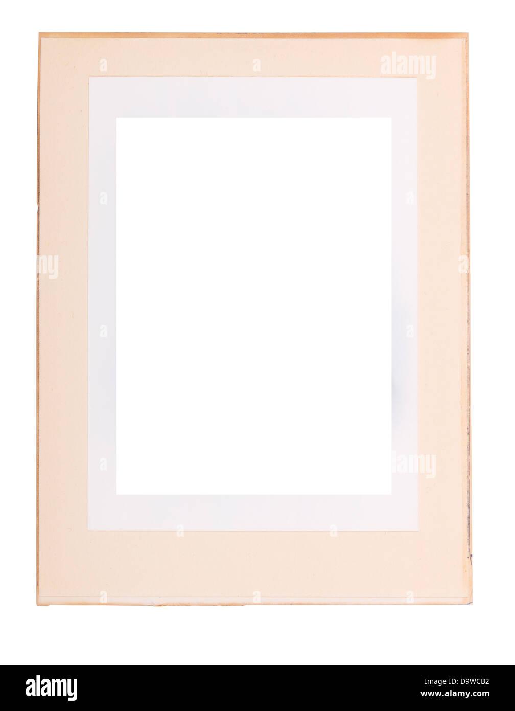 Alte Papier Fotorahmen als einen Fotorahmen, isoliert auf weiss ...