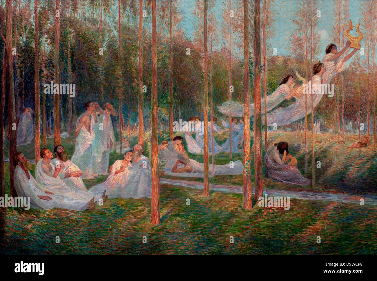Sérénité - Gelassenheit 1899 Henri Martin 1860-1943 Frankreich Stockbild