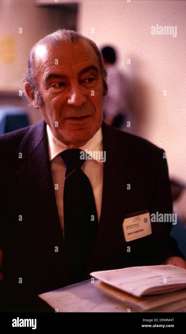 Die Szene mit der berühmten okkulten Messe in Basel Schweiz - Basler PSI-Tage - 1989. Jahr. Archivfotos. Stockbild