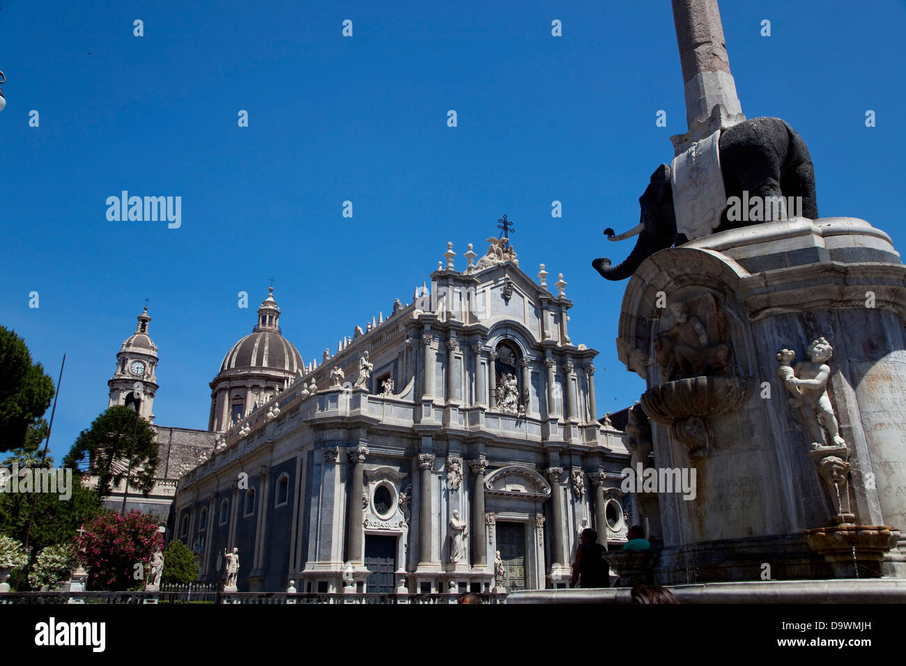 Dom, barocke Kathedrale und Platz in Catania, Sizilien, Sicilia, Italien, Italia Stockbild