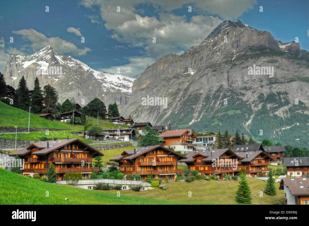 Grindelwald-Schweiz Stockbild