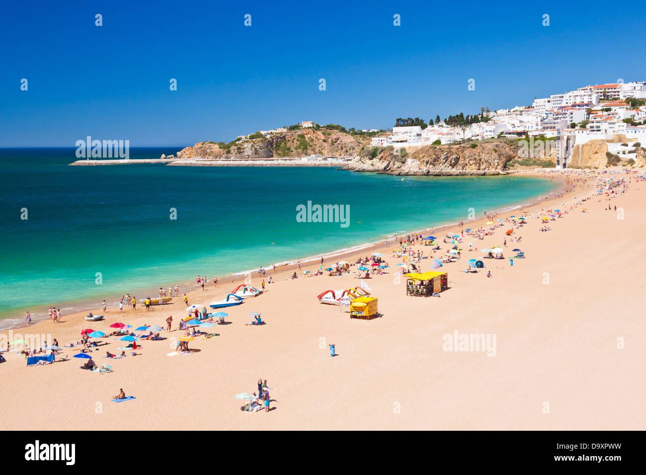 Fishermans Strand Praia Dos Pescadores Albufeira Strand Algarve Portugal EU Europa Stockbild