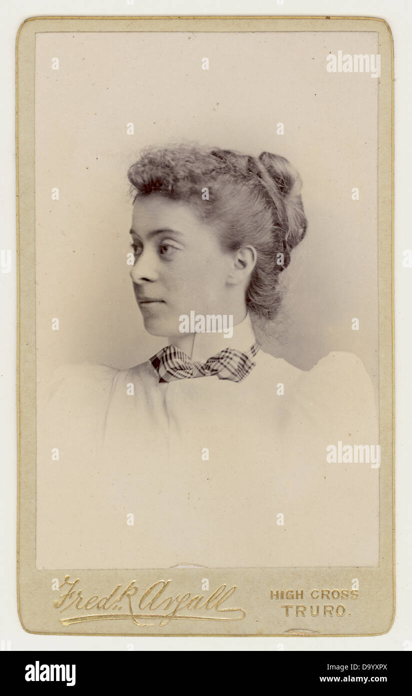 Cartes De Visite Visitenkarte Portrat Einer Jungen Frau Viktorianischen 1890 UK