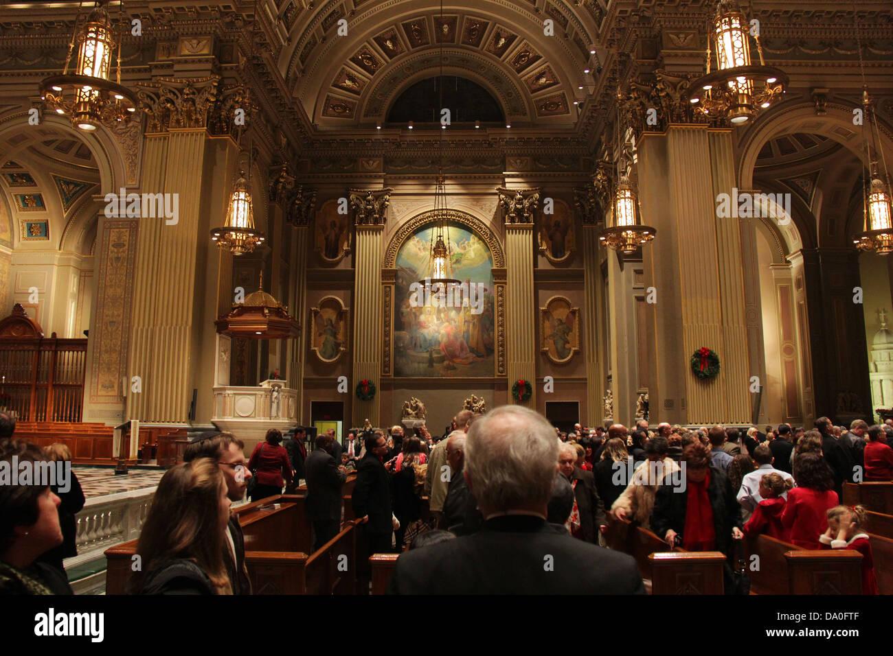 Kathedrale Basilica der Heiligen Petrus und Paulus, Race Street, Philadelphia, Pennsylvania. Stockbild