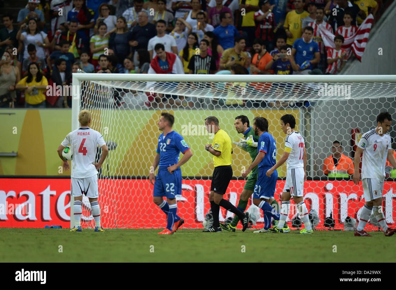 Keisuke Honda (JPN), 19. Juni 2013 - Fußball / Fußball: Keisuke Honda Japan bereitet sich auf eine Strafe zu nehmen, Stockfoto