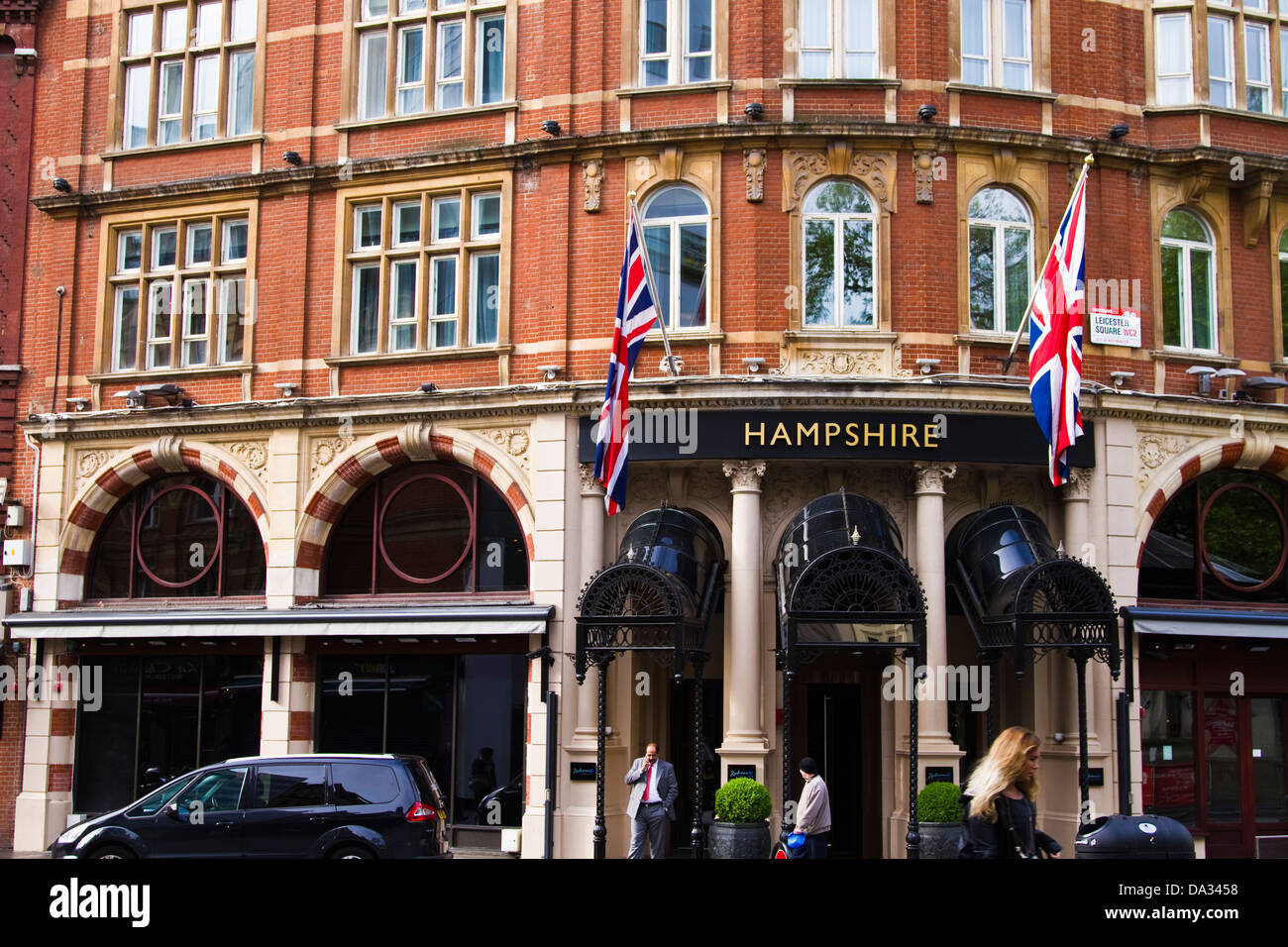 Hampshire Hotel Leicester Square London Stockfoto Bild 57846804