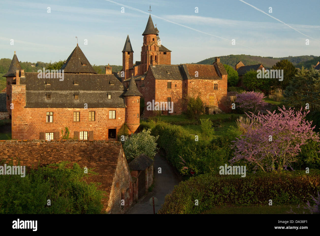 Collonges-la-Rouge in Correze, Limousin, Frankreich Stockbild