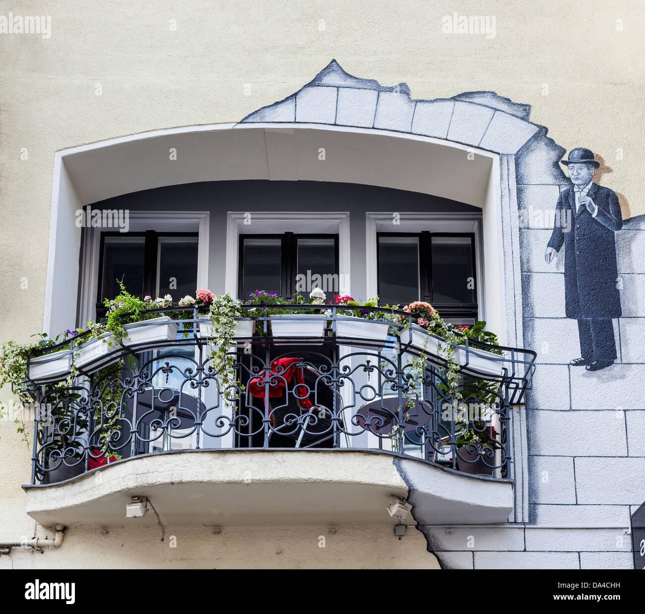 Balkon Von Der Hommage A Magritte A Boutiquehotel In
