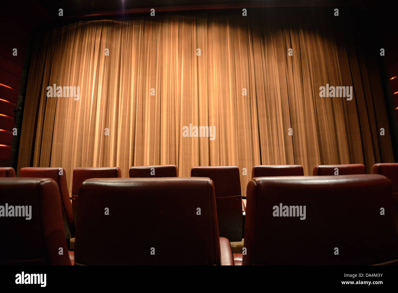 Ein Film-Theater-Interieur Stockbild