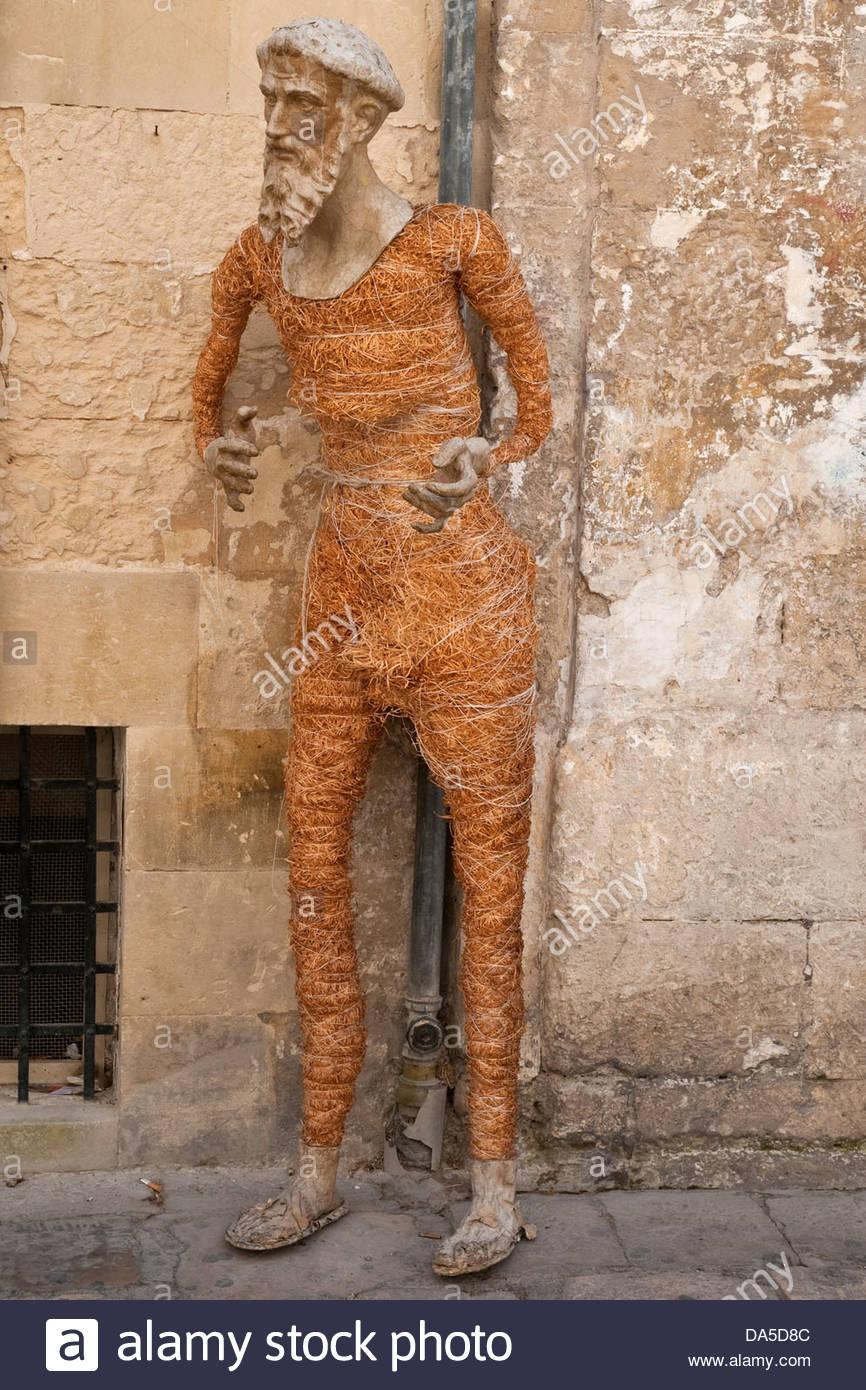 Lecce papier Pappmaché-Statue unter Konstruktion, Lecce, Apulien, Italien Stockbild