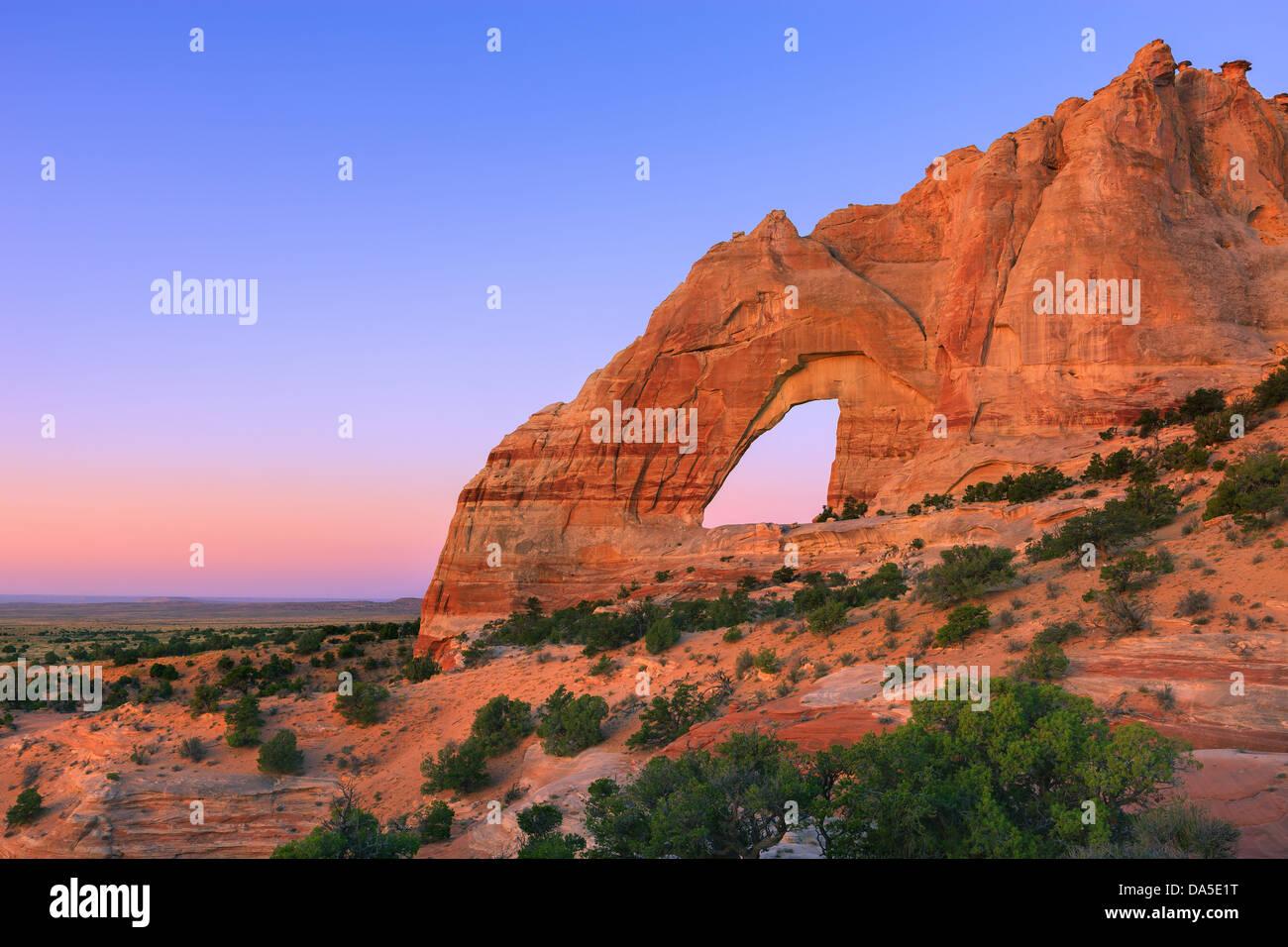 White Mesa Arch, im Nord-östlichen Teil von Arizona, USA Stockfoto