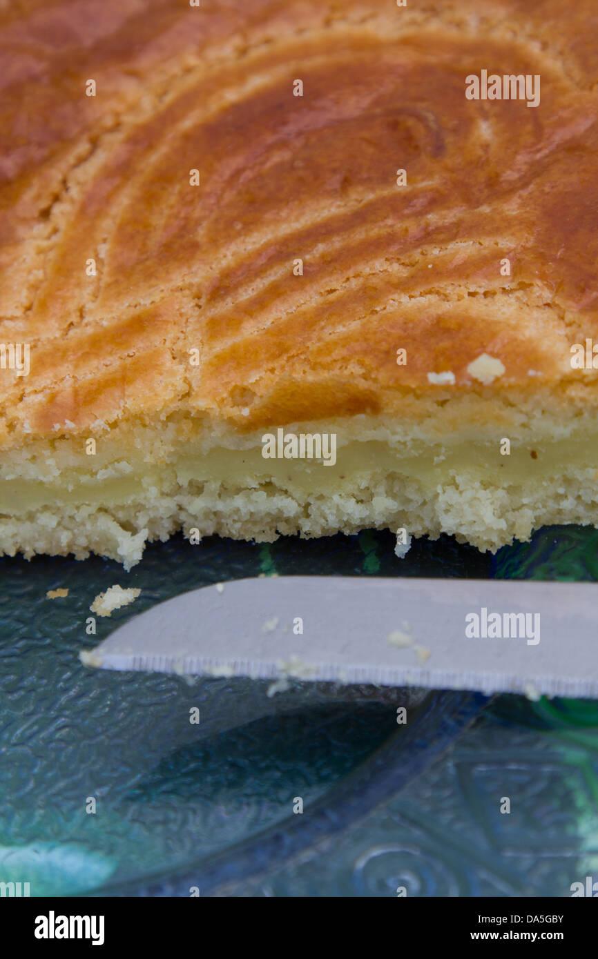 Gateau Basque Traditioneller Baskischer Kuchen Mit Mandel Mehl