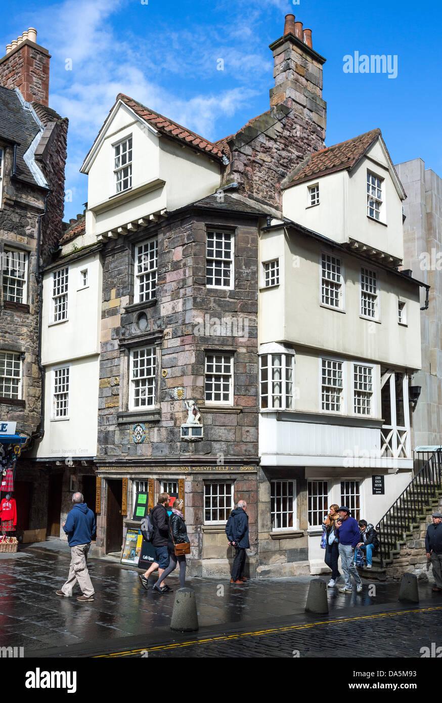 Europa-Großbritannien, Schottland, Edinburgh, Royal Mile, Canongate, das John Knox Haus. Stockfoto