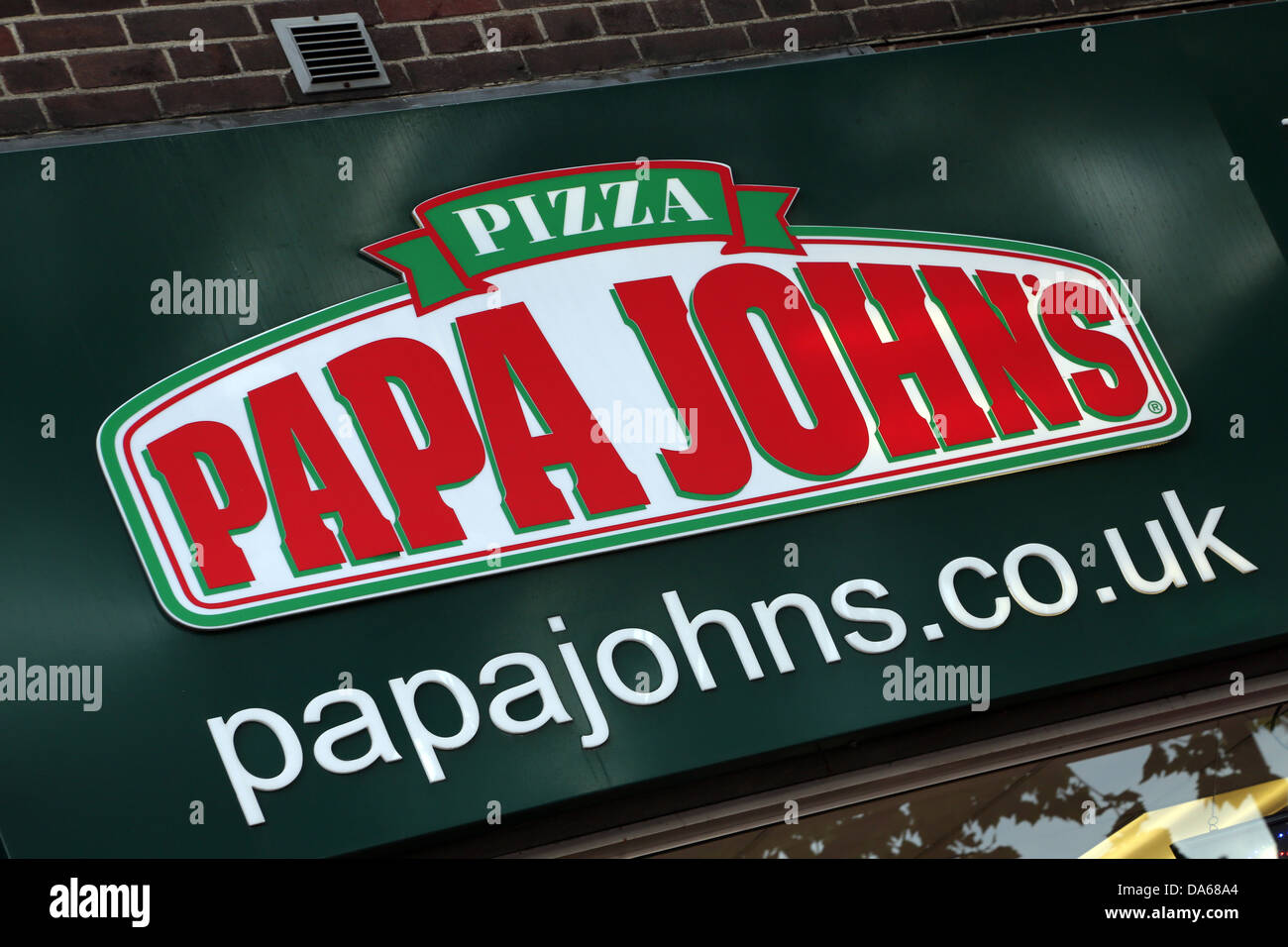 Morden London England Pizza Papa John's Restaurant Stockbild