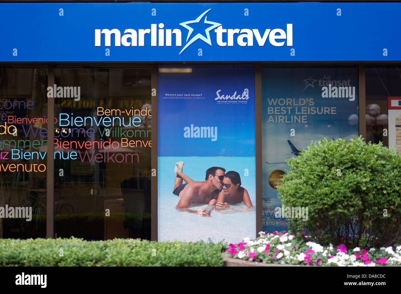 Marlin Reisen, Reisebüro, Agentur, Toronto Stockbild