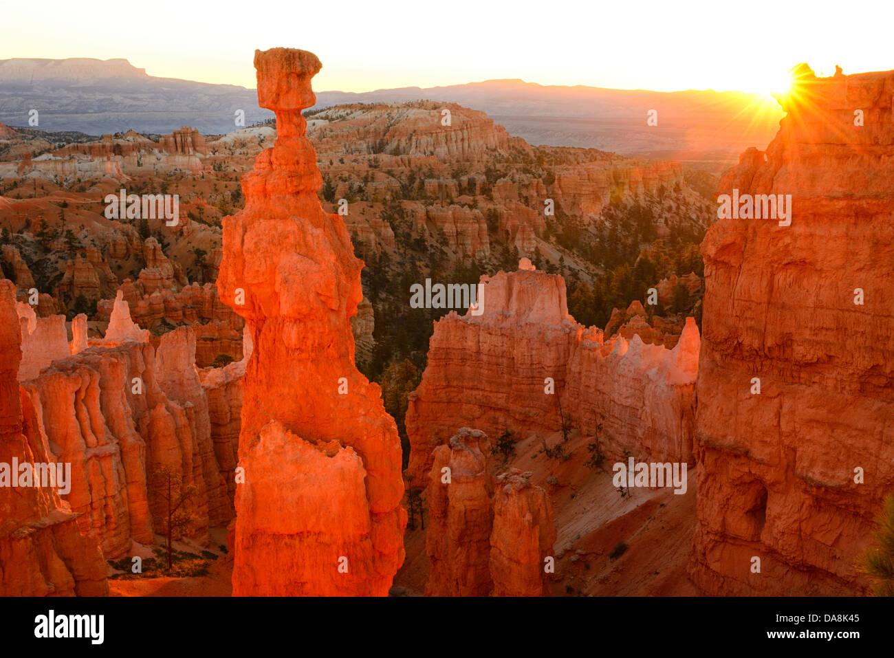 USA, USA, Amerika, Utah, Canyon, Nordamerika, vier Ecken, Colorado Plateau, Bryce Canyon, Nationalpark, Sonnenaufgang, Stockbild