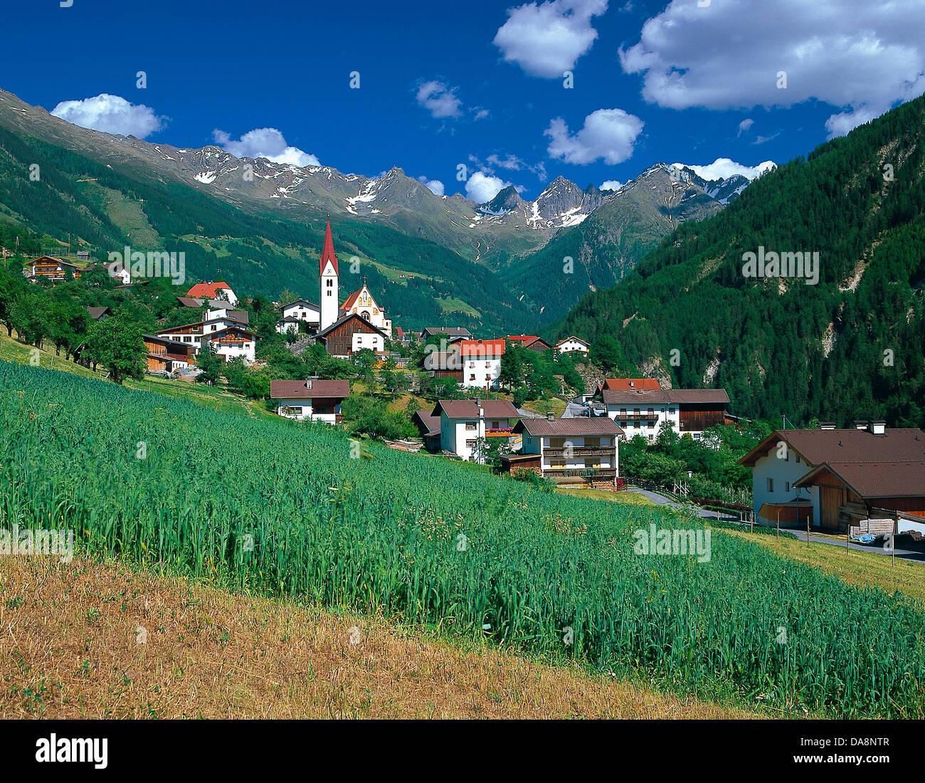 Österreich, Europa, Tirol, Kaunertal, Kauns, Bergdorf