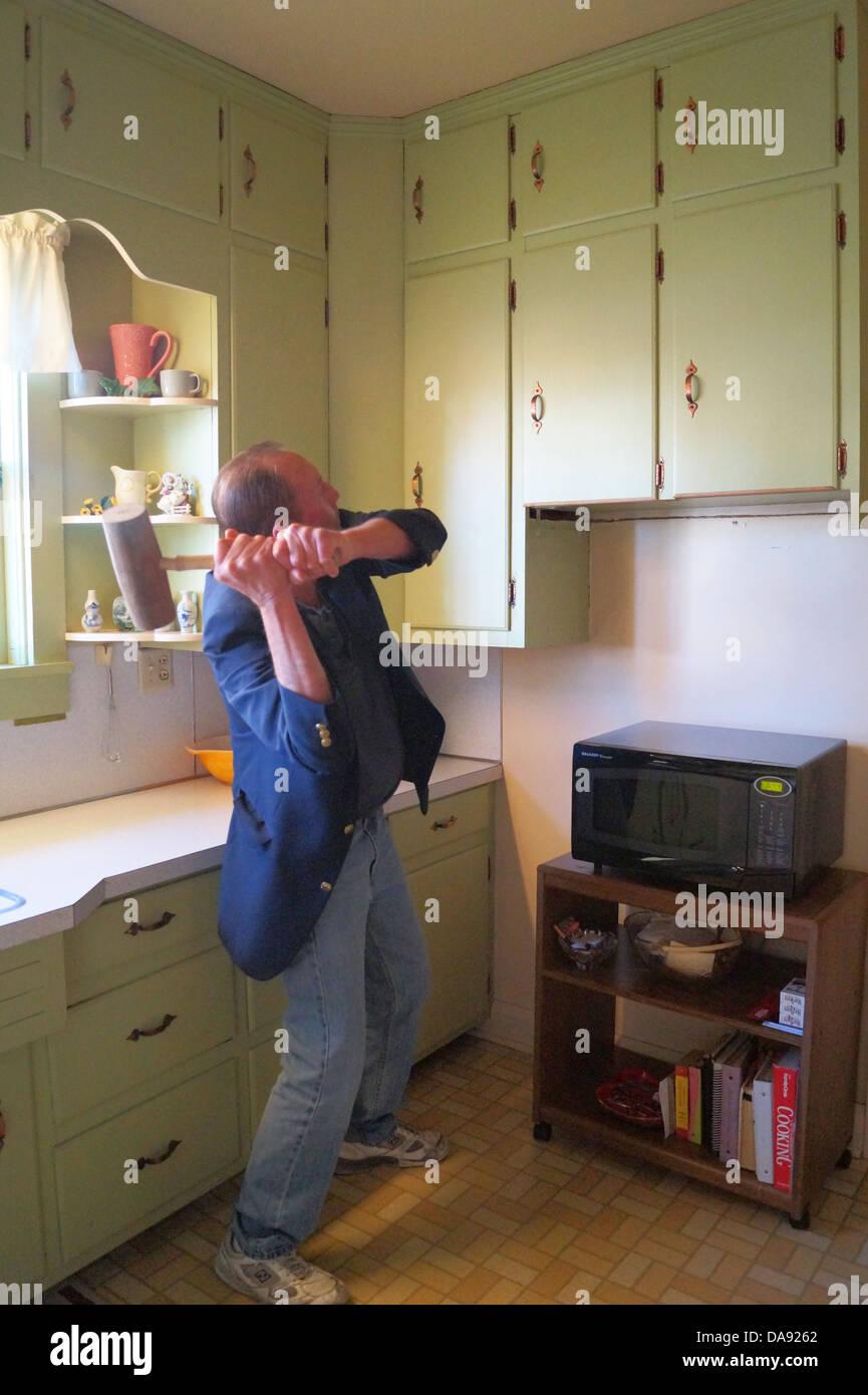 Zeit, Die Küche Umzugestalten. Stockbild