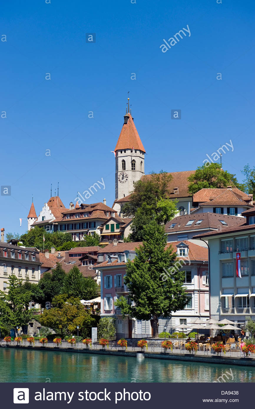 Schweiz, Kanton Bern, Thun, Landschaft Stockbild