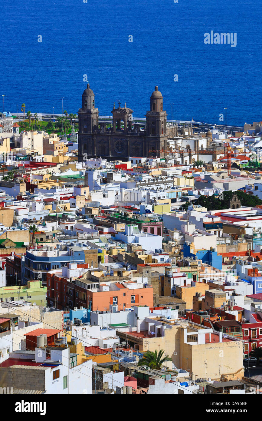 Spanien, Europa, Kanarische Inseln, Gran Canaria, Las Palmas, Stadt, Santa Ana, Vegueta, Dom, Geschichte, Insel, Stockbild