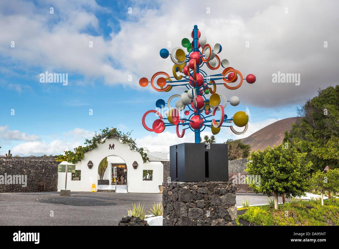 Spanien, Europa, Kanarische Inseln, Stiftung, Lanzarote, Architektur, Kunst, Künstler, Cesar Manrique, bunt, Stockbild