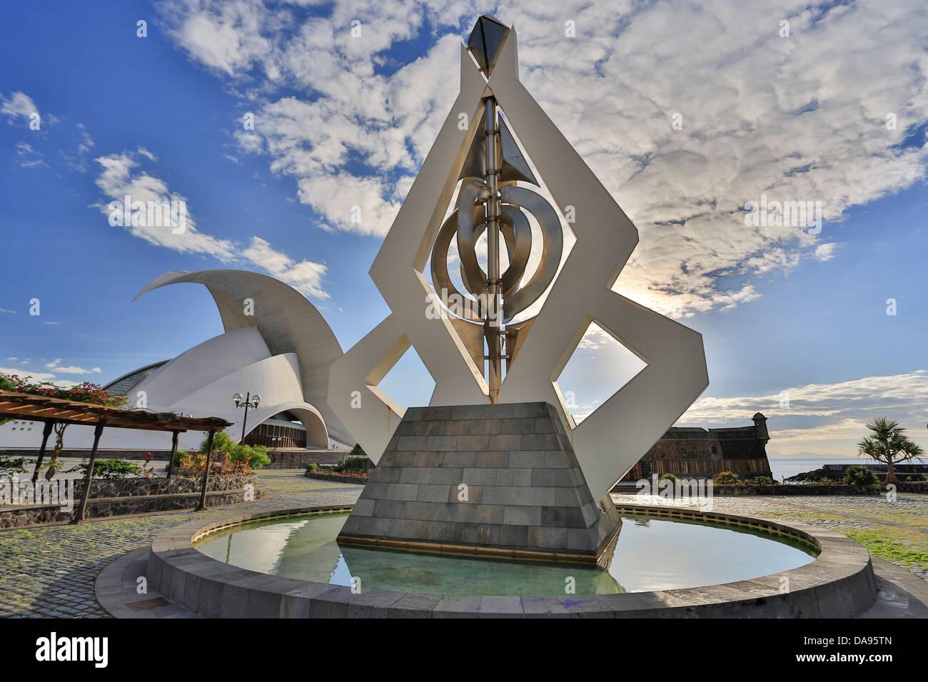 Hörsaalgebäude, Calatrava, Kanarischen, Santa Cruz De Teneriffa, Santa Cruz, Teneriffa, Teneriffa, Architektur, Stockbild