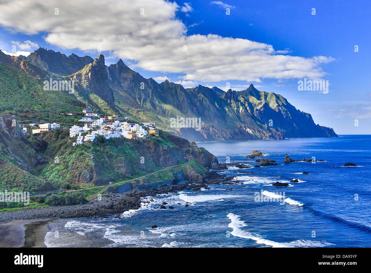 Almáciga, Kanarische Inseln, Kanaren, Taganana, Taganana Küste, auf der Insel Teneriffa, Teneriffa, Teneriffa, Stockbild