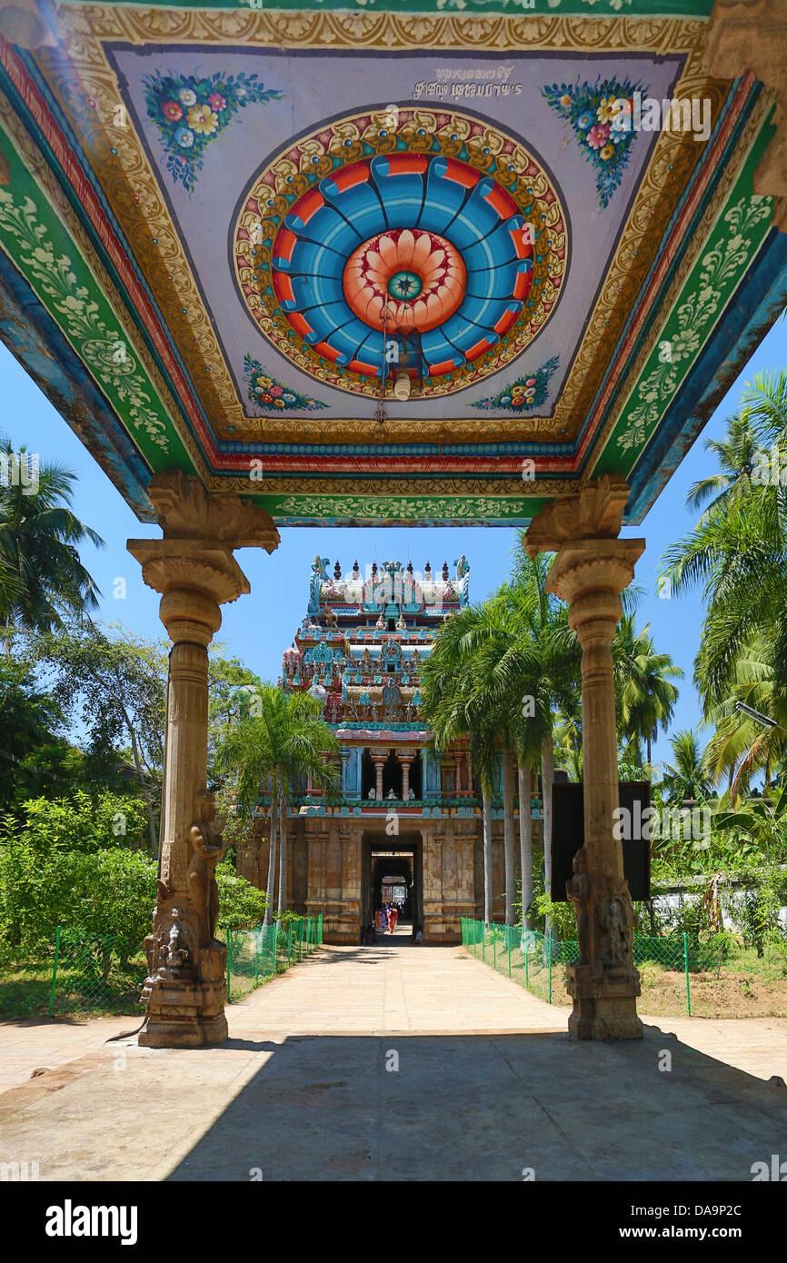 Indien, Süd-Indien, Asien, Tamil Nadu, Tiruchirappali, Trichy, Jambukeshwara, Tempel, Thiruvanaikaval, Lord, Stockbild