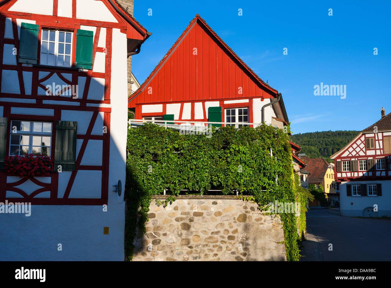 Steckborn, Schweiz, Europa, Kanton Thurgau, Stadt, Altstadt, Häuser ...