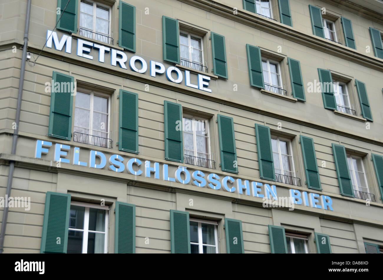 Hotel Metropole, Bern, Schweiz Stockbild