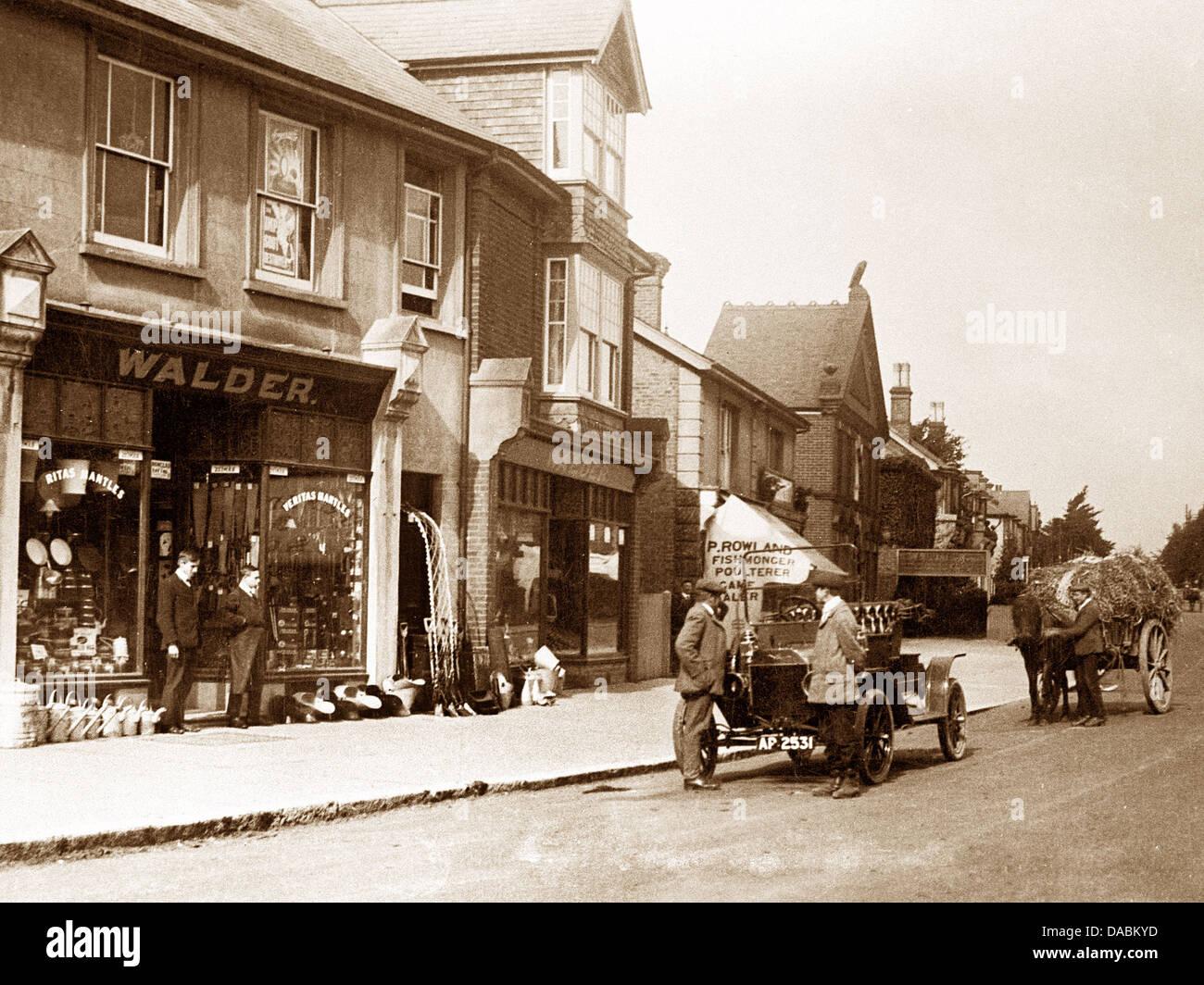 Haywards Heath Sussex Platz 1900 Stockbild