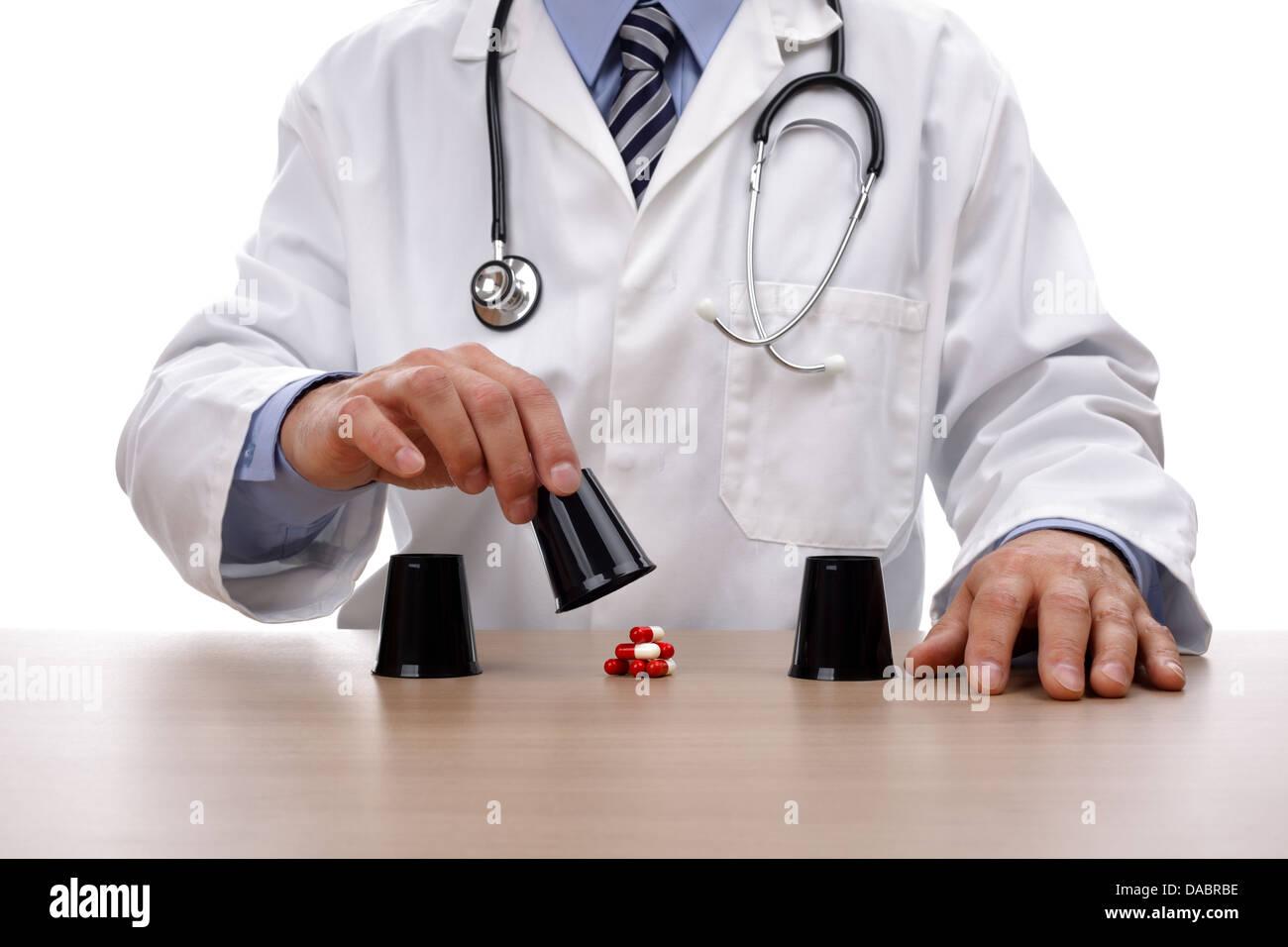 Glücksspiel mit medizinischer Versorgung Stockbild
