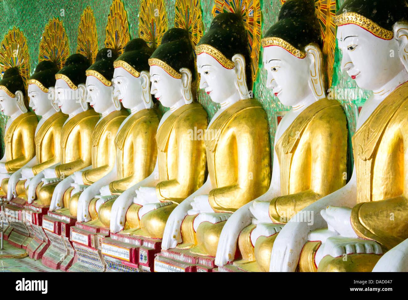 einige der 45 buddha bilder finden sie unter eine halbmondf rmige kolonnade am umin thounzeh am. Black Bedroom Furniture Sets. Home Design Ideas