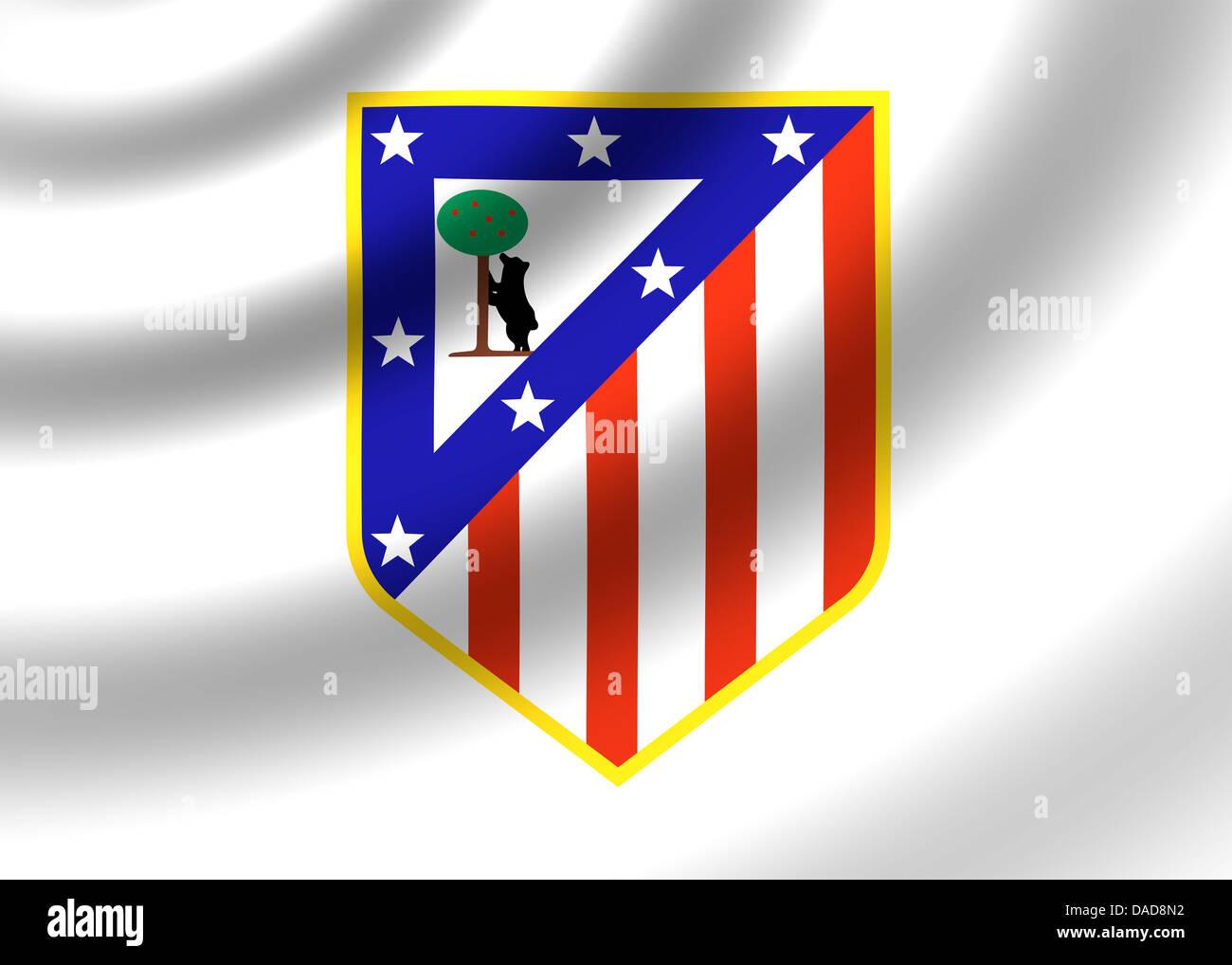 Atletico Madrid Logo Symbol Fahne Emblem Stockfoto Bild 58069902