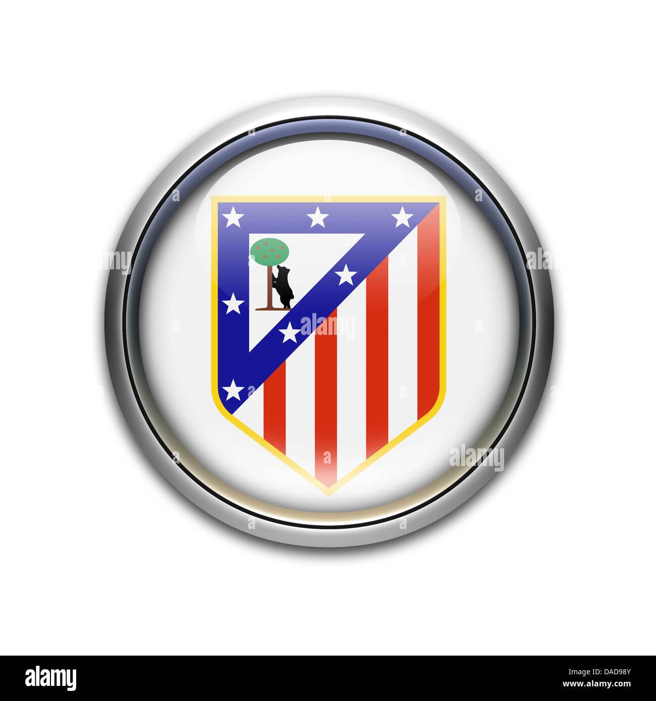 Atletico Madrid Logo Symbol Fahne Emblem Stockfoto Bild 58070347