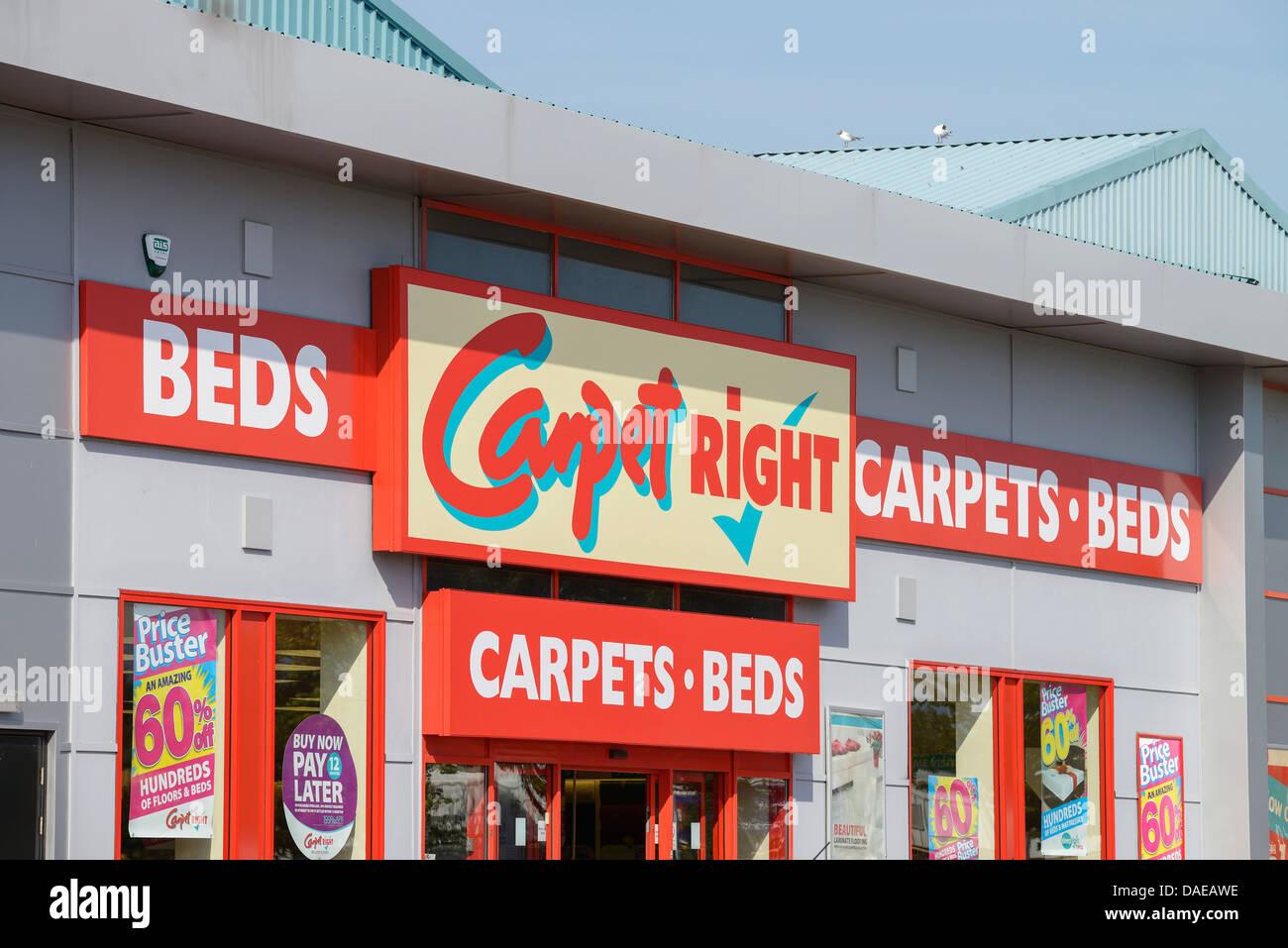 Teppich-richtige Retail-store Stockbild