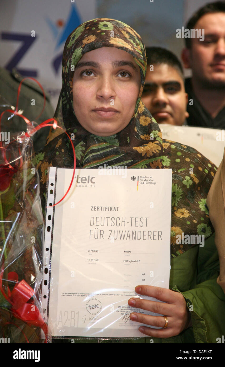 Yussra El Ahmad Aus Lebanon R Hält Ihr Deutsch Test Für