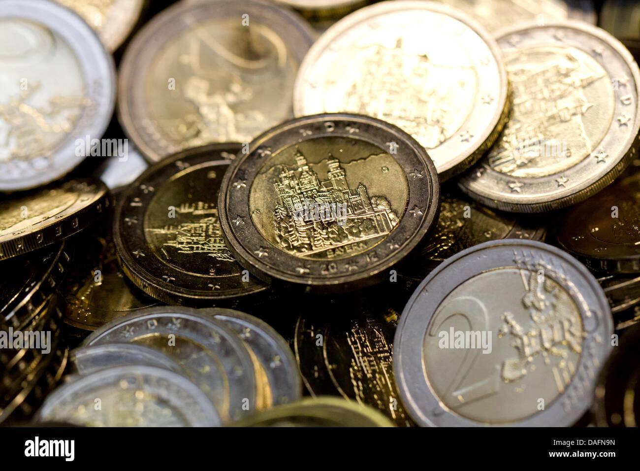 2 Euro Gedenkmünzen Neuschwanstein Liegen In Einer Box In Der